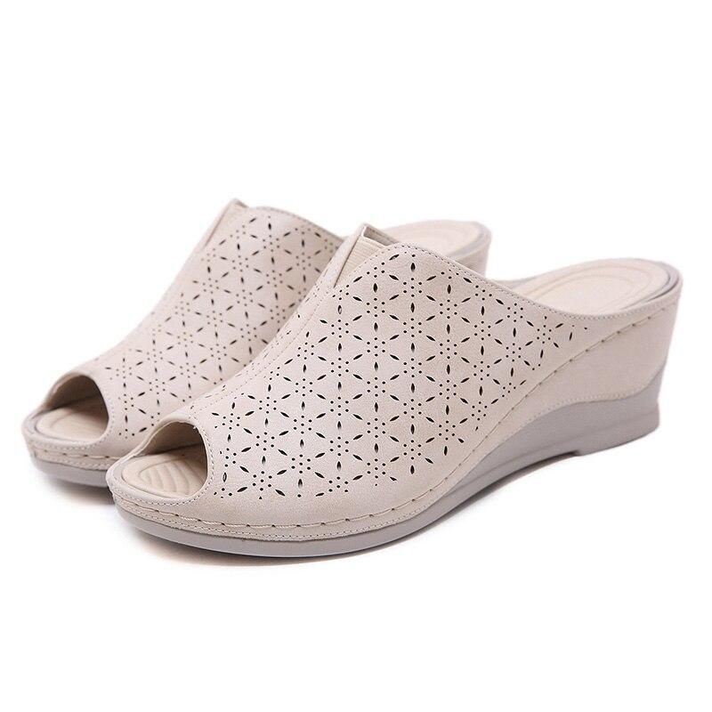 2020 летние туфли; женские сандалии в римском стиле; повседневные женские босоножки на танкетке; мягкая обувь; модная Брендовая женская обувь на танкетке 5 см; большие размеры; A2116|Боссоножки и сандалии|   | АлиЭкспресс