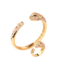 Luxury fashion classic animal head shape bracelet with open ring, Europe, Dubai, the best jewelry gift B1269