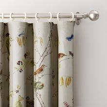 Flat Hook Polyester Curtain Window Drapery Size and Liner Custom ChadMade Luna (1 Panel) Curtain For Track Traverse Rod