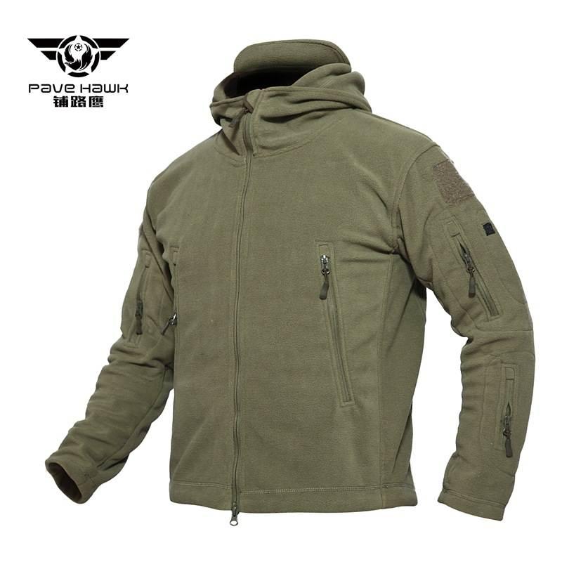 Мужская тактическая куртка паве ястреб, флисовое пальто для улицы, зимняя однотонная куртка из полиэстера с мягкой оболочкой для охоты, кем...