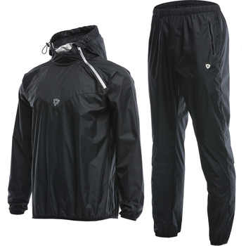 Men Sauna Suit Set Sport Jackets and Pants Suit Quick Dry Hooded Gym Clothing Running Training Boxing Accessories - DISCOUNT ITEM  10 OFF Sports & Entertainment