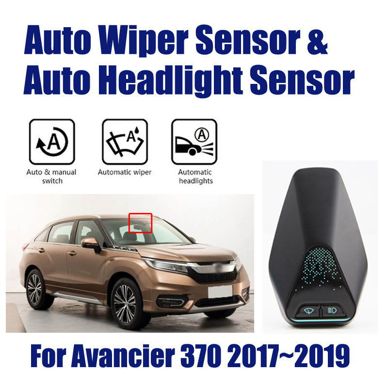 For Honda Avancier 370 2017~2019 Smart Auto Driving Assistant System Car Automatic Rain Wiper Sensors & Headlight R&D Sensor