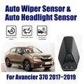 Para Honda Avancier 370 2017 ~ 2019 Smart Auto Assistente de Condução Do Carro Sistema de Sensores de Chuva Limpador Automático & Farol R & D Sensor