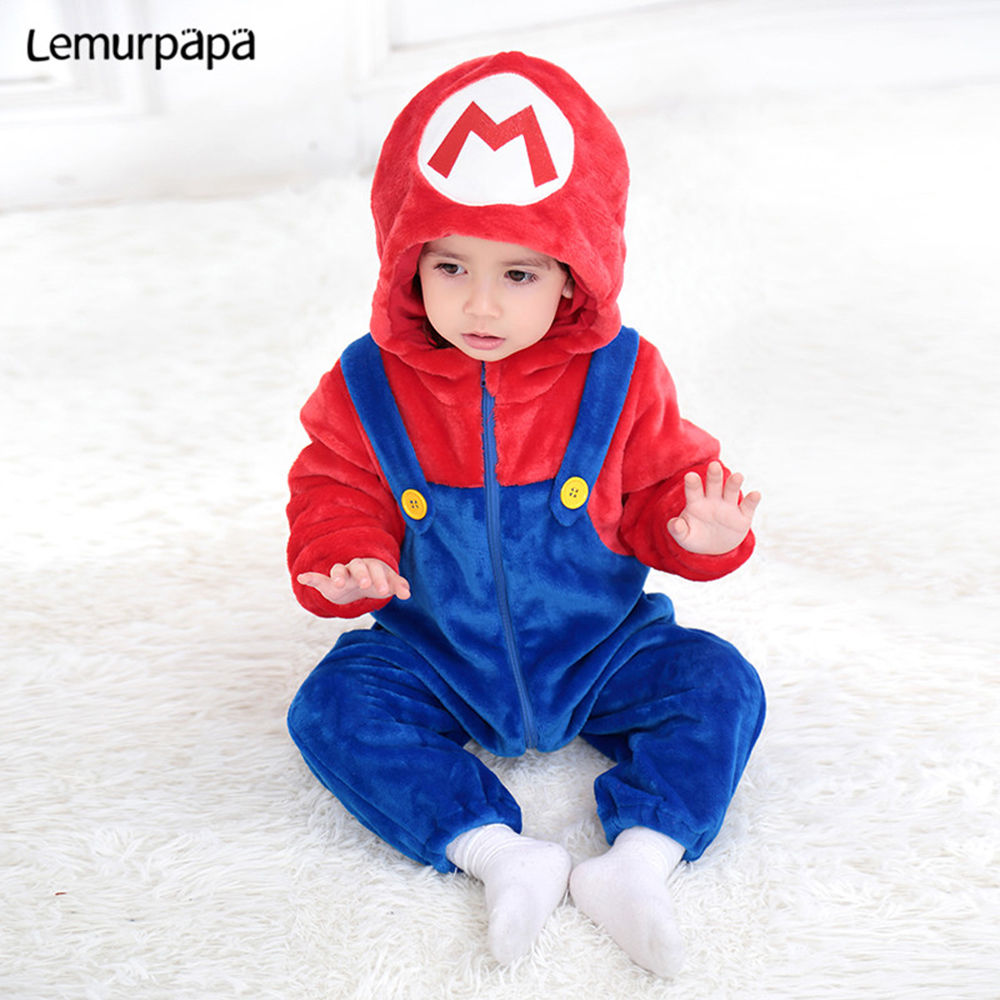 Infant Snorlax Baby Clothes Romper Cute 0-3Y NewBorn Boys Girl Onesie Cartoon Costume Flannel Soft Warm Kids Outfit ropa bebe | Happy Baby Mama