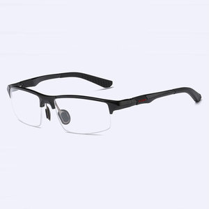 Image 3 - 3121 Optical Eyeglasses Frame for Men Eyewear Prescription Glasses Half Rim Man Spectacles Alloy Frame Eyeglasses