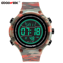 GOODWEEK Men Sport  Watch Led Digital Watches Analog Military Army Waterproof Electronics Wrist Reloj Hombre