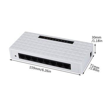 8 พอร์ตเครือข่ายไร้สายสวิทช์ Gigabit Lan Ethernet อะแดปเตอร์ Hub 8 พอร์ต Gigabit Ethernet เต็มรูปแบบ EU /US PLUG