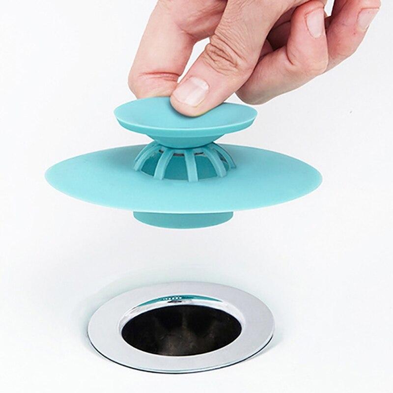 Household Silicone Hair Catcher Bathroom Sink Plug Drain Hair Strainer Stopper Basin Bath Bathtub Supplies Kitchen Accessories