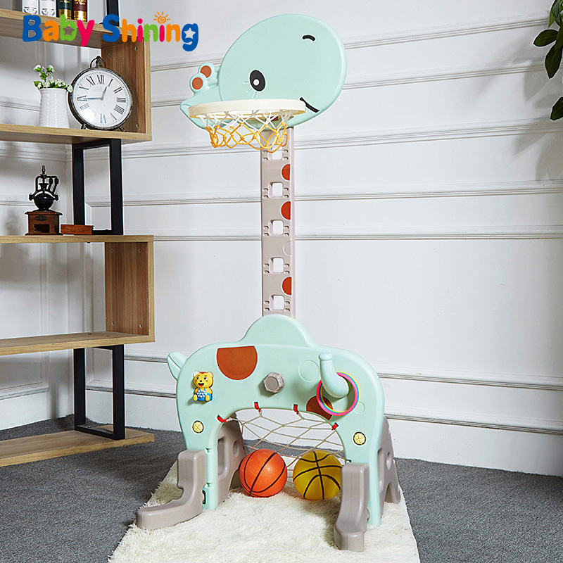 Baby Shining Sports Toy Basketball Stands For Kids Adjustable Indoor Baby Toys 1-8 Year Old Home Ball Shooting Rack Fitness Toy