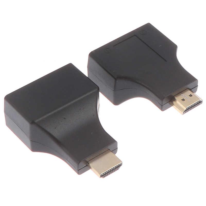 HDMI כפולה RJ45 CAT5E CAT6 UTP LAN Ethernet HDMI Extender משחזר מתאם 1080P עבור HDTV HDPC PS3 STB 1 זוג
