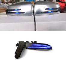 Blue + Yellow 2pcs Dynamic Turn Signal LED Light Side Mirror Indicator For Mercedes Benz W204 CLA A B C E S GLA GLK CLS Class