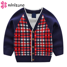 Baby Boy Sweaters Knitted V-Neck Single Breasted  Boys Long Sleeve  Striped Tops Modis Kids Cardigan Tiny Cottons Winter 2019 Ne v neckline single breasted striped babydoll top
