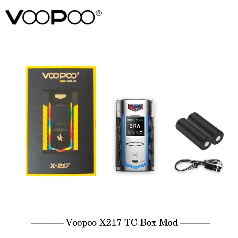Original VOOPOO X217 TC Box Mod  Electronic Cigarette 217W Vape GENE.FAN Chip TFT IPS HD Screen Fit 21700 20700 18650 Battery