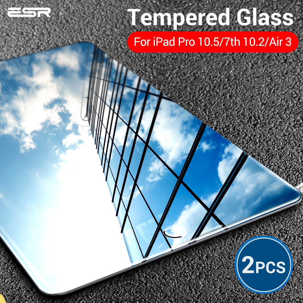 ESR Tempered Glass For IPad 7 Generration 10.2 2019 Air 3 IPad Pro 10.5 Screen Protector 9H Glass Film For IPad 7th Gen Air3 2pc