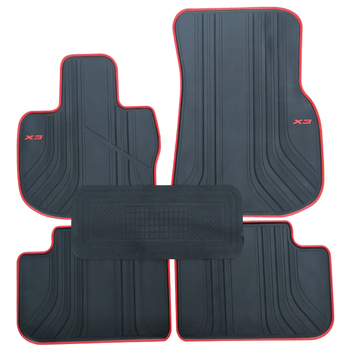 Rubber Car Floor Mats for 2018 Year BMW X3 Cutom No Odor Carpets Waterproof
