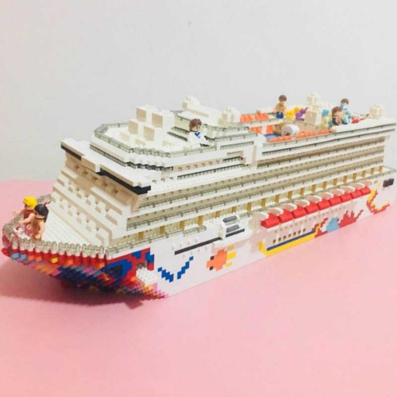 ZRK7800 XB03024-03027 Bausteine Militär Auto Luxury Cruise Liner Boot Spielzeug