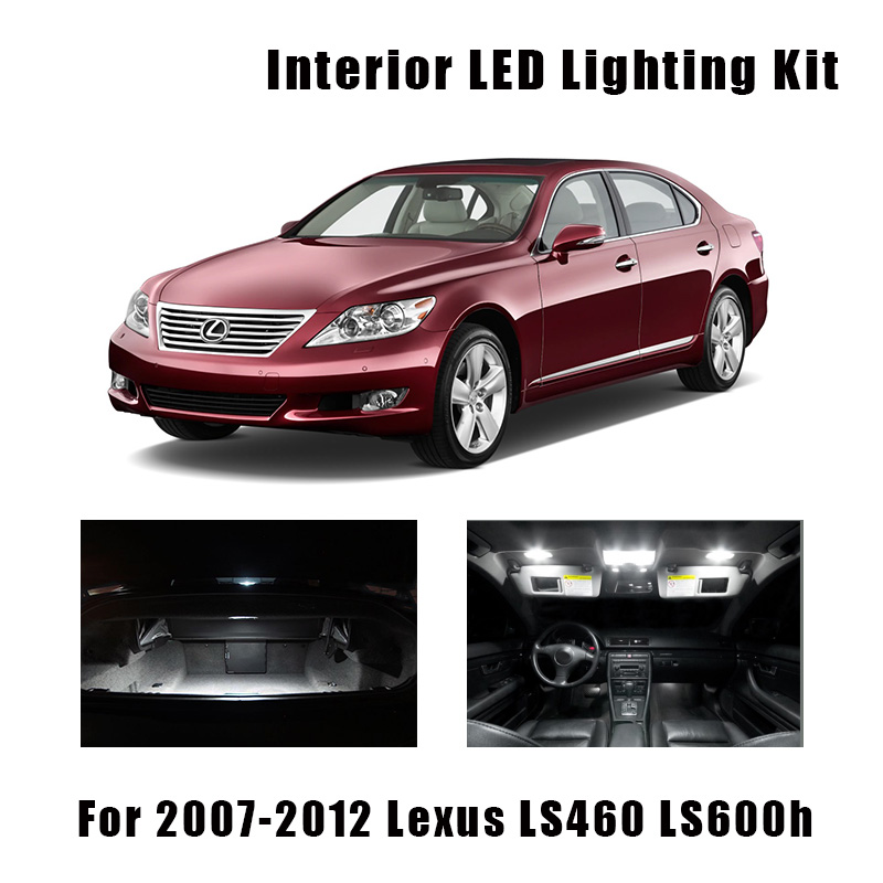 15pcs White Canbus LED Bulbs Interior Map Dome Trunk Light Kit For 2007-2010 2011 2012 Lexus LS460 LS600h Vanity Mirror Lamp