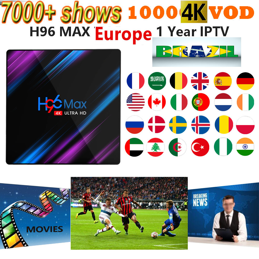 IPTV M3u TV BOX Subscription Brazil Italy UK German French Spanish Mediaset Premium For Android Box Enigma2 Smart TV PC Linux