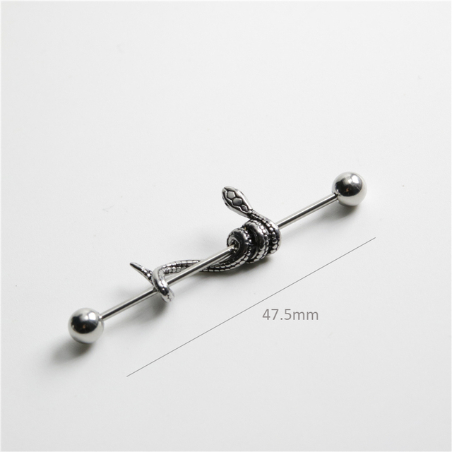 UVW340 1pc Punk Multi Use Surgical Steel Snake Animal Industrial Cartilage Earrings Stud for Women Tragus.jpg 640x640 - UVW340 1pc Punk Multi-Use Surgical Steel Snake Animal  Industrial Cartilage Earrings Stud for Women Tragus Body Piercing Jewelry
