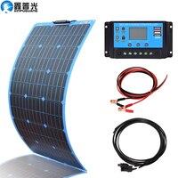 12v solar panel battery charger 100w 200w Flexible Monocrystalline Cell for Car/Yacht 12V 24 Volt 100Watt Battery solar systems