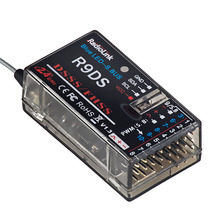 Radiolink r9ds 2.4 ghz rc 수신기 at9/at9s/at10ii/at10과 호환되는 10ch sbus/pwm 신호 dsss/fhss 확산 스펙트럼