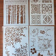 Scrapbook Stencils Painting Floral-Leaves Album-Decorative-Template Embossing Butterfly