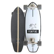 Profissional de surf terra skate qualidade bordo único pontapé carving cruiser skate board 33 polegada longboard legal lado esporte rua