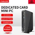 Msecore intel e3 1231v3 gtx1050ti 4g cartão dedicado mini pc windows 10 htpc nettop barebone linux jogo desktop computador 4 k wifi