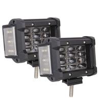 Светодиодный рабочий светильник 9D, 12-24 В, 3,5 дюйма, 240 Вт, 24 лм, боковая подсветка, автомобильный внедорожный светильник для вождения, 1 пара, дл...