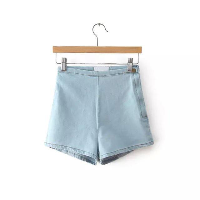 GOPLUS Shorts Summer Denim Shorts Women High Waisted Blue Black White Jeans Shorts Vetement Femme 2021 Spodenki Damskie C1078 6
