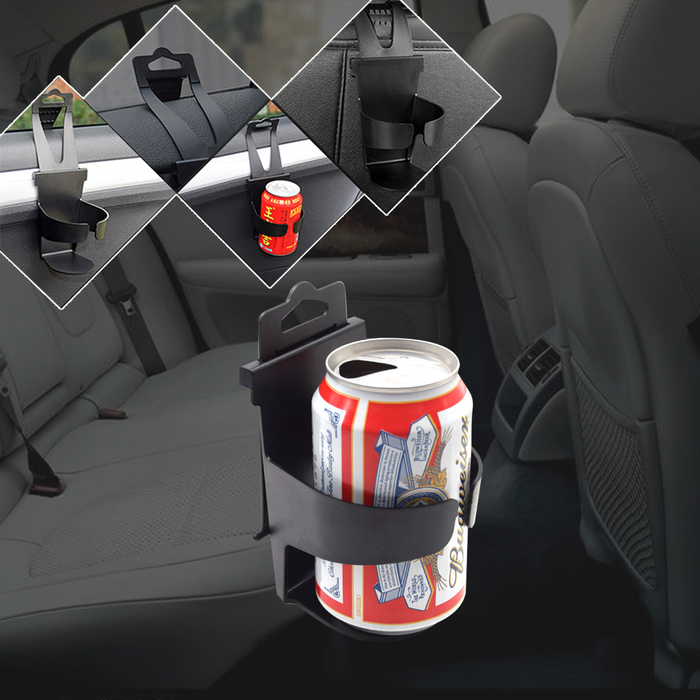 MXECO Soporte de vaso de agua lateral de puerta Soporte de vaso colgante para coche Soporte de almacenamiento de ventana de coche Soporte de copa lateral de puerta de bebida negro