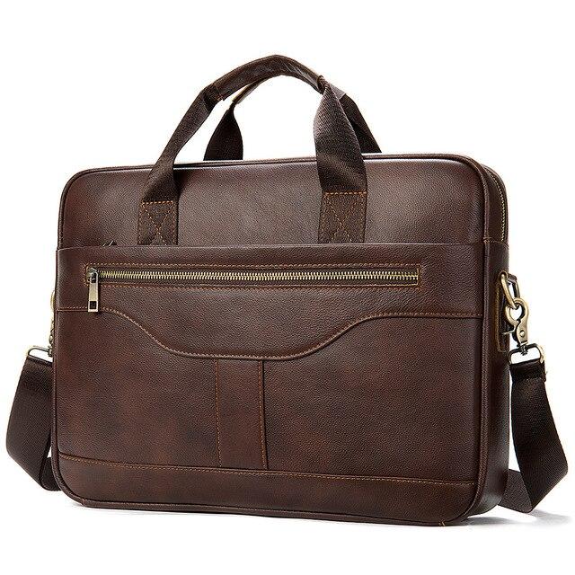 Męska torba na ramię mężczyzna walizka biznesowa torba na laptopa 15 6 uchwyt na telefon Key Chai Chain Organizer na dokumenty skórzany Messenger
