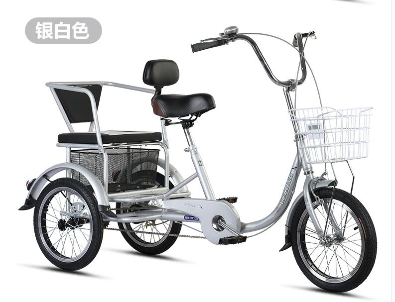 Mother Baby Bike 2 In 1 Aged Wheelchai Tricycle