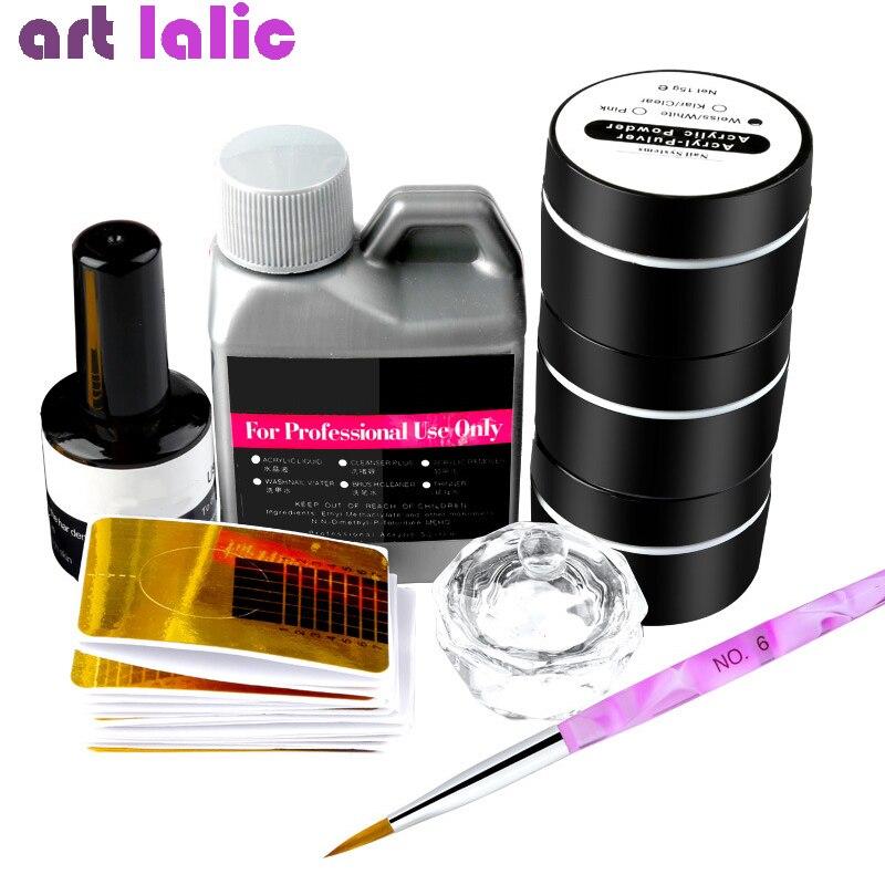 8 шт./компл. акриловая пудра, 3 цвета, жидкий кристалл, Dappen, блюдо, кисть, 3D, наконечники для ногтей, инструменты для резьбы