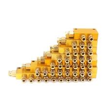 2/3/4/5/6/7/8/10 способ Регулируемый масляный поршень компонентов значение коллектор блок 6 мм 4 мм с отверстиями для Централизованная смазка