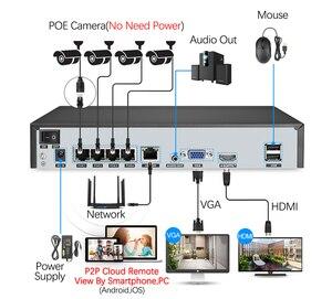 Image 2 - Techage 4CH 1080P POE kamera NVR sistemi 2MP ses ses CCTV Video gözetim kiti hava koşullarına dayanıklı Video ev güvenlik kamerası seti