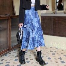 Модная женская осенняя юбка новинка 2020 асимметричная с высокой