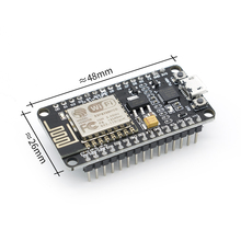 50 pces ch340/cp2102 módulo sem fio nodemcu v2 lua wifi nodemcu wifi placa de desenvolvimento rede baseada esp8266 ESP 12E