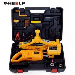 E-HEELP 3 ton carro elétrico scissor jack com chave de impacto ferramenta de levantamento automático elevador do carro jack ferramenta conjunto & fácil transportar a04