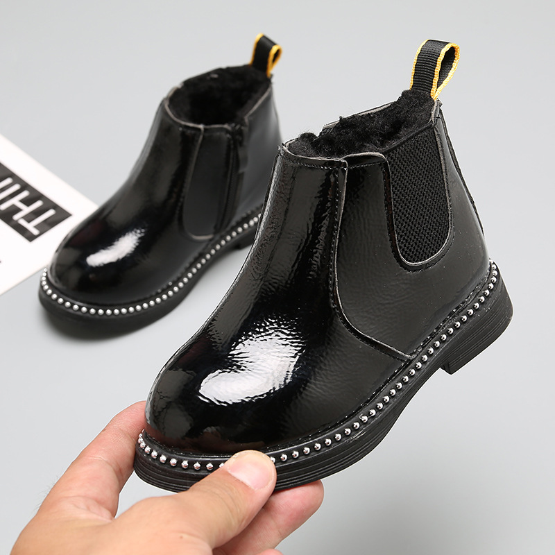 Boys Girls Children Fashion Short Boots Bootie Casual Shoes 3-12 Years Old Teen Fall Winter Sport Ankle Boots