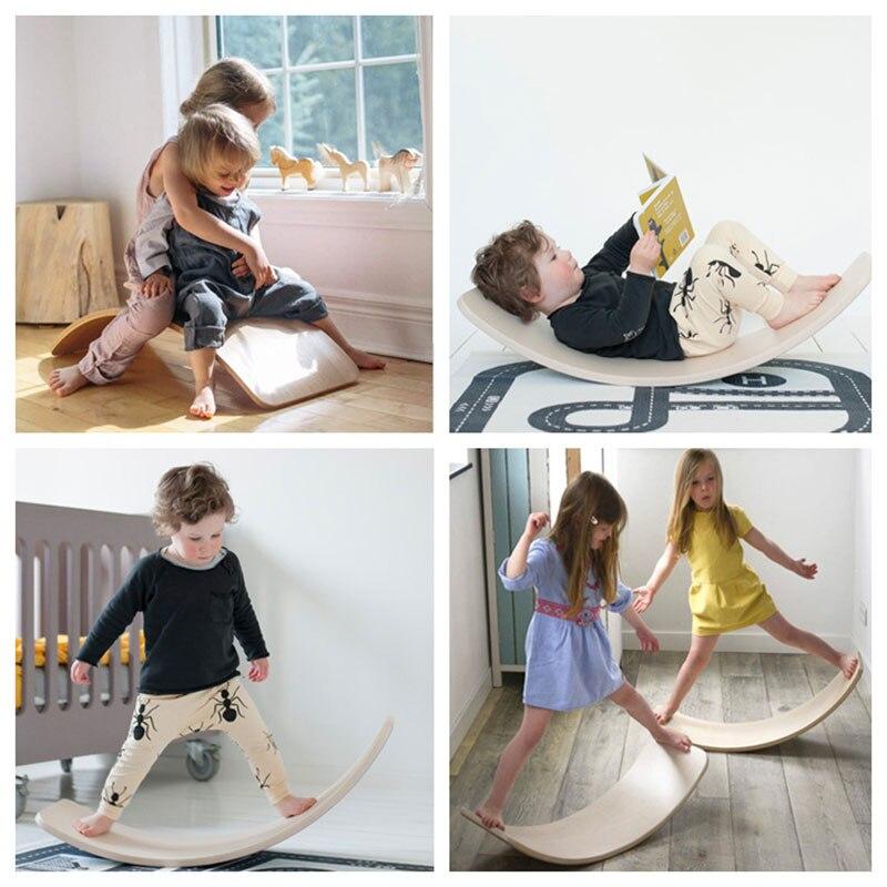 Enfant en bois Balance conseil corps oscillant équilibre entraînement torsion équipement de formation enfants Balance balançoire jouets - 3