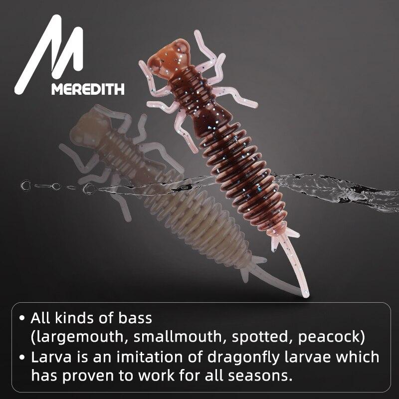 Мягкие приманки MEREDITH Larva, 50 мм, 62 мм, 85 мм, искусственные приманки, силиконовая приманка для ловли червя, приманка для ловли щуки, гольян, плавающая приманка, пластиковые приманки