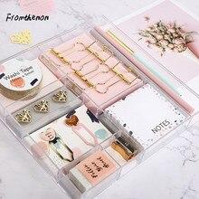 Rosa Serie Schreibwaren Set Band Clips Memo Pad Bleistift Lesezeichen Büro Zubehör Geschenk Box Verpackung Schule Schreibwaren Sets