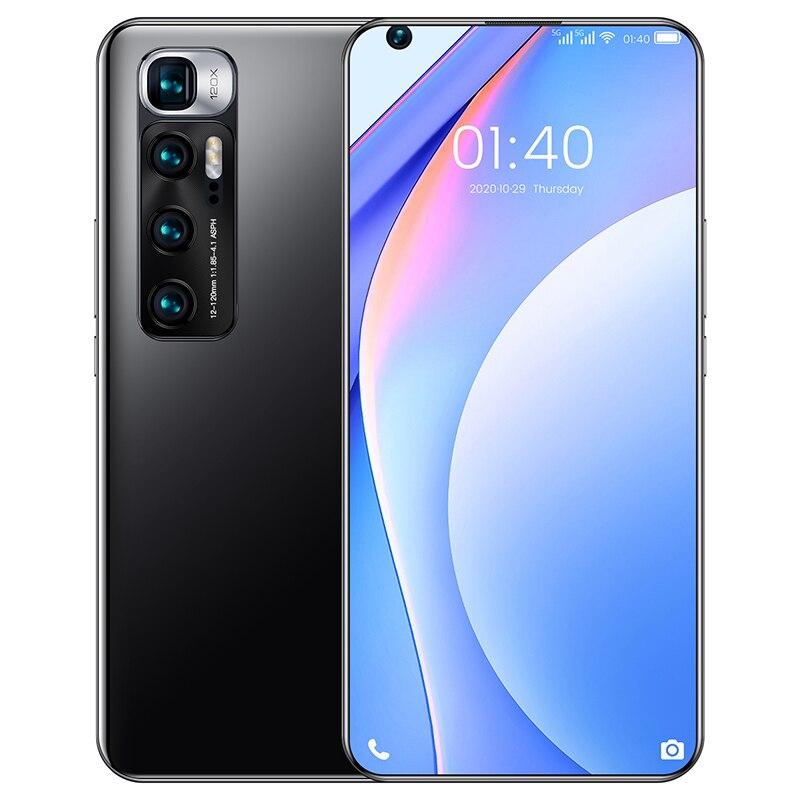 M10 ультра 6,8 Inch 8 + 512 ГБ 6000 мАч Мобильный телефон Octa Core 24 + 48 Мп смартфон сотовый телефон с двумя слотами Камера смартфон MTK6889 глобальной