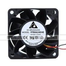 Novo original ffb0624ehe 24v 0.57a 6cm 6038 dupla bola servidor inversor ventilador de refrigeração