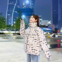 Светильник Светоотражающая куртка пузырь для женщин зима письмо