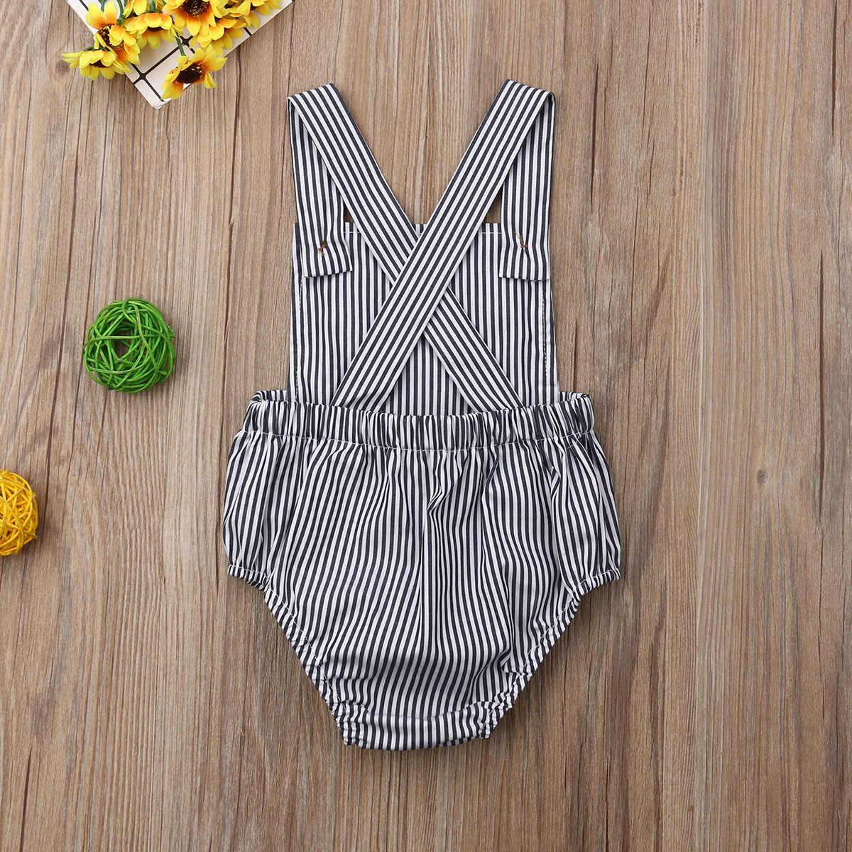 Novo 2020 infantil do bebê recém-nascido meninos meninas macacão verão algodão sem mangas um-pieces suspender macacões roupas de algodão
