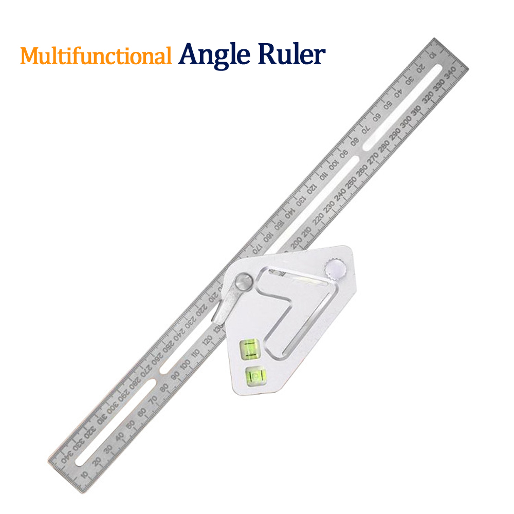 Multi-function Stainless Steel Adjustable Angle Measuring Ruler Line Painted Roof Revolutionizing Carpentry Utensil For Woodwork