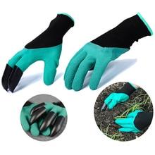 Garden Gloves with Fingertips Claws Gardening Digging Planting Durable Waterproof Work Glove Dig