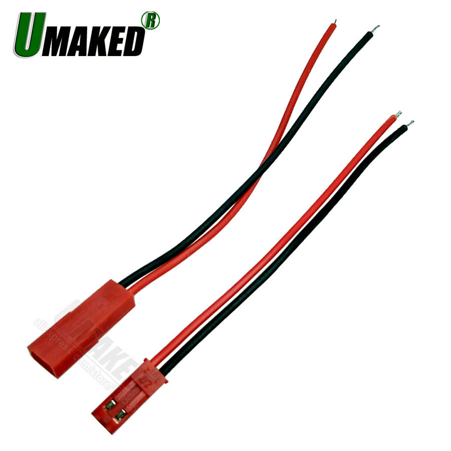 Cable Connector-Plug Strip Rc-Battery Rigid JST Power Female for 10pairs 100mm Led